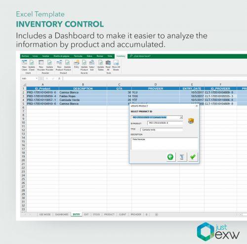 Managing stock in Excel