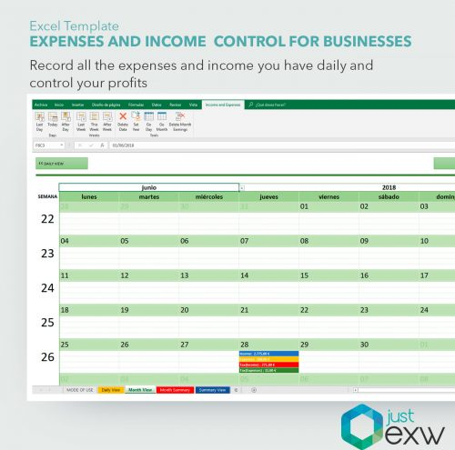 Excel cost control